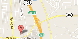 Map of Paso Robles