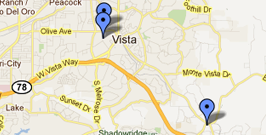Map of Vista